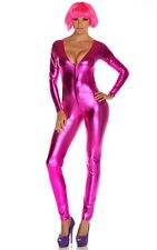CATSUIT JUMPSUIT ELASTIC ROSA FUCHSIA METALLIC IN WETLOOK VINYL MODA COSTUMES