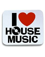 Tappetino Mouse Pad TLOVE0052 i love house music mens