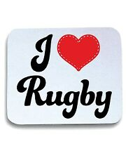 Tappetino Mouse Pad TRUG0025 i love rugby5 logo