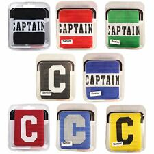 Captains Armband for Football Rugby Hockey Big C & Captain Styles All Colours