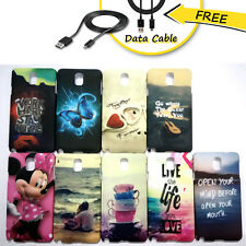 Samsung Galaxy Note3 N9000, N9005, N9002 Back Cover Case + Free Data cable
