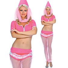 Sexy Pink Fairy Tale Genie Harem Girl Belly Dancer Halloween Costume S/M or M/L