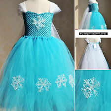 Frozen Vestito Compleanno Carnevale in Tulle Elsa Girl Cosplay Dress 789053
