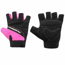 Muddy Fox Pink + Black Fingerless Cycle Mitts / Gloves (Road/Mountain Biking)