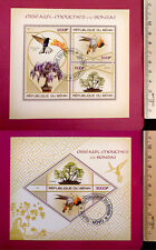 Nature Plants HUMMINGBIRDS & BONSAI stamps 2015 perf. Sheetlet CTO Excellent NH