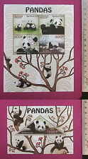 Wild Animal PANDAS 2014 Congo perf Sheetlet CTO stamped Excellent NH UK