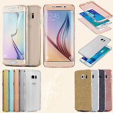 New Samsung Galaxy S6 S7 J3 S6Edge Shockproof Hybrid Sparkly Glitter Case Cover
