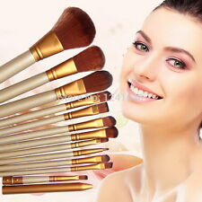 12 Pcs Makeup Brush Set Cosmetic Brushes Blusher Eyeshadow + Lip Brush Consealer