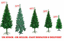 2ft/3ft/4ft/5ft/6ft Traditional GREEN Indoor Artificial Christmas Xmas Tree