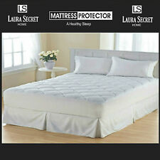 Quilted Mattress Bed Protector Topper Cover ALL SIZES Deep Skirt Anti-Allergy