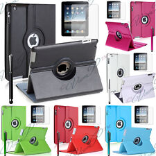 Leather Case Cover Shell Tablet Holder 360 APPLE iPAD 2 3 4 Retina 5 Stylus
