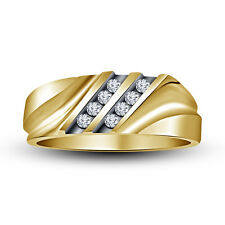 Latest Design 14K Gold Plated 925 Sterling Silver White CZ Wonderful Men's Ring