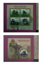 Wild Animal GORILLA 2015 perf. Sheetlet CTO stamped NH Excellent uk