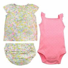 Carter's Baby Girls' 3 Piece Bodysuit and Diaper Cover Set MSRP $32.00