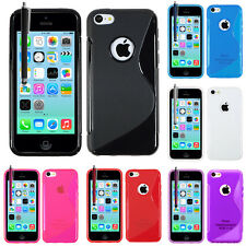 Accesorios Funda Carcasa TPU silicona Gel S Flexible Apple Iphone 5C + Lámina