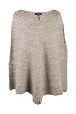Select donna Mantella Maglia Poncho a grosse beige mélange LANA 38-44