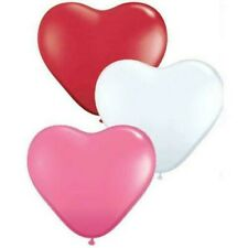 "Qualatex forma de corazón 11"" Globos látex x 100 - ELIGE COLOR"