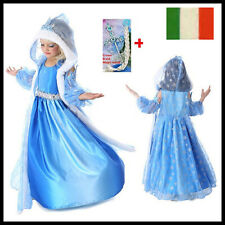 CARNEVALE COSTUME FROZEN dress bambina ELSA VESTITO BIMBA TRAVESTIMENTO new 2017