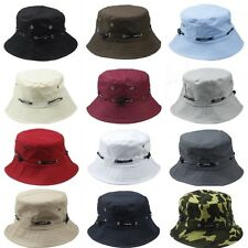 Unisex Bucket Hat Boonie Flat Hunting Outdoor Beach Casual Cap Fisherman Sun hat