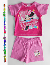 Minnie Mouse Pigiama estate Ragazza manica corta rosa/fucsia Disney 80 86 92 98