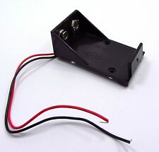 9V Plastic Battery Holder Box Clip Case Connector With Wire Leads 14.5CM F07