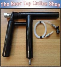Beer Tap Pluto Gun with Beer Line. Optional Ball Lock Disconnect for Corny Keg