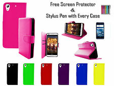 Leather Pu Wallet Soft Tpu Gel Stand Case Cover Card Holder For HTC Desire 650