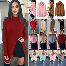 Casual Winter Women Sweater Jumper Ladies Long Sleeve Pullover Outfits Dress Top