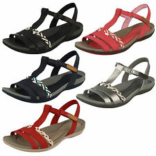Ladies Clarks Tealite Grace Casual Leather T-Bar Sandals D Fitting