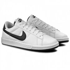 Nike Tennis Classic Leather Mens Size Shoes Black White Defect 312495 129