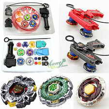Kids Beyblade 4D Metal Master Fusion Top Rapidity Fight Launcher Grip Game Set