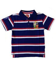 British and Irish Lions Rugby Kids' Striped Polo Shirt | 2017 Tour | Navy