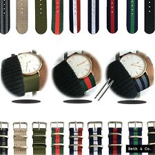 NATO Army Nylon Fabric Watch Strap Striped Swiss Military Dapper Wrist Band