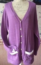 """New!! Ladies Plus Size Lilac Wear Your Heart on your Sleeve Cardigan Bust 42"""""""