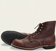 Red Wing  Mens Boots 8119 Iron Ranger Heritage Work Oxblood Mesa -Brown