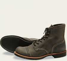 Red Wing  Mens Boots 8116 Iron Ranger Heritage Work Charcoal Rough & Black