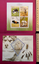 Animal PETs DOGs 2015 MADAGASCAR perf 4 value Sheetlet CTO Excellent NH UKseller