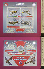 AirFighters of WWII Stamps 2015 Congo perf. 4 value Sheetlet CTO Excellent NH UK