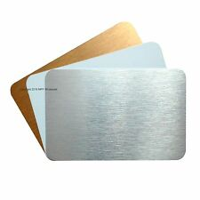 Blank Aluminium Metal Business Cards Dye Sublimation Printing