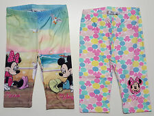 Minnie Mouse and Mickey Mouse 3/4 Leggings Trousers Girls Pant Disney