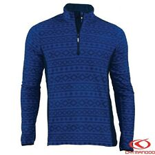 Catmandoo Men's Micro Fleece Zip Neck Pullover - Warm Lightweight Outdoor Jumper