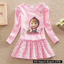 Masha e Orso Vestito Bambina Casual Girl dress Masha and the Bear MABDR06