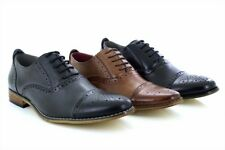 Mens Goor M516 Classic Frank Capped Lace Up Oxford Brogue Shoes
