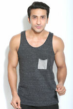 Madsapparel Men Snow milange Scater fit Tank Top vest for Gym and Street