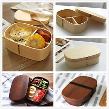 Japanese Style Lunch Box Wooden Bento Boxes Sushi Snack Picnic Food Container