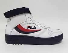 Fila Sports Men's FX-100 HIGH TOP Shoes White/Navy/Red 1VB90150-12 a