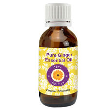 Pure Ginger Essential Oil (Zingiber officinalis) 100% Natural Therapeutic Gr