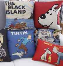 Tintin, Black Island & Snowy Cushion Covers, 45cm x 45cm, UK Seller, BNWT