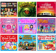 Educational & Sticker Activity Packs Wallets Variety Children Age 4-10 Years New