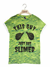 BATCH1 THIS GUY JUST GOT SLIMED ALL OVER PRINT SPOOKY HALLOWEEN MENS T-SHIRT
